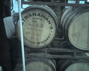 Stranahan's Whiskey casks at Great Divide.