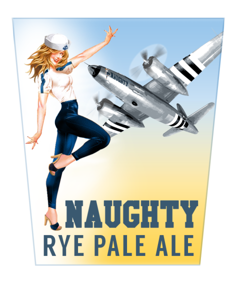Veterans United Craft Brewery's Naughty Rye IPA Tap Decal - Chirs Voyer, designer